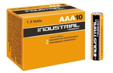 Duracell AA or AAA Industrial Alkaline Batteries - 10 Pack