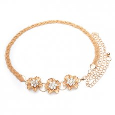 Flower Gold metal Chain Waist Belt