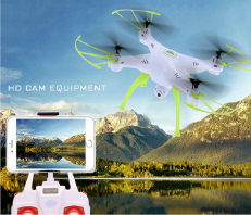 360 Degrees Quadcopter Drone with Live HD Camera